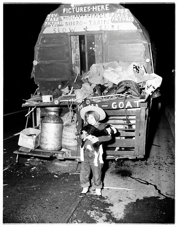 Burro wagon accident, 1951