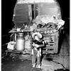 Burro wagon accident, 1951