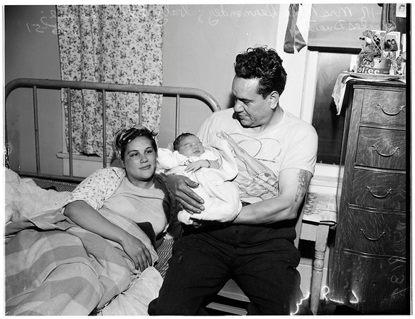 Baby home delivery, 1951