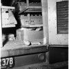 Train rams into chicken truck, 1951