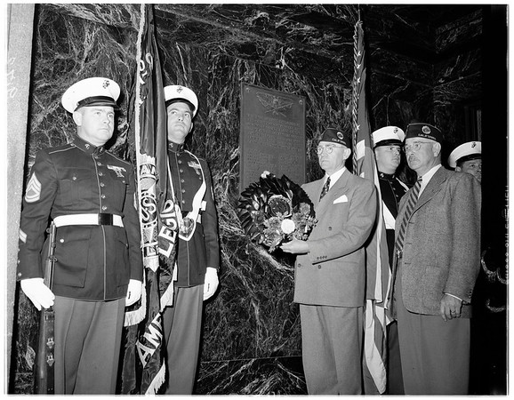 County Memorial Day service (hall of recorders), 1951
