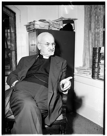 Bishop interview, 1951