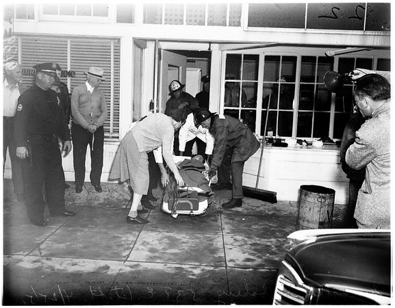 Gas explosion in bakery (538 East 1st Street, Long Beach), 1951