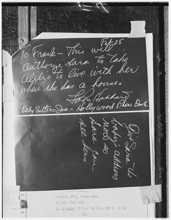 Hubbard custody, 1951