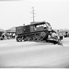 National Guard tractor hits auto (Long Beach), 1951