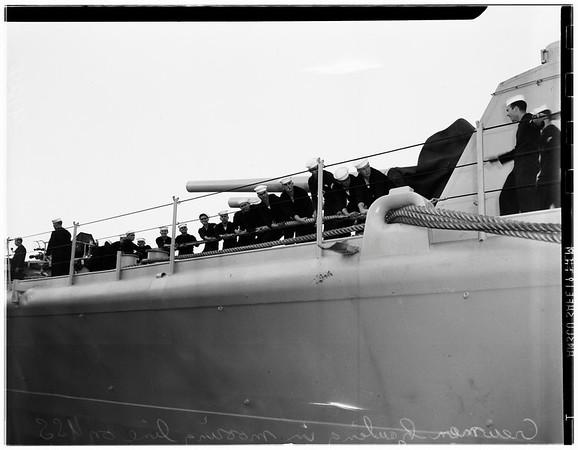 "Cruiser USS ""Los Angeles"", 1951"