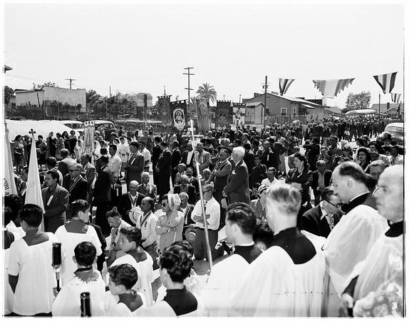 Corpus Christi processional, 1951