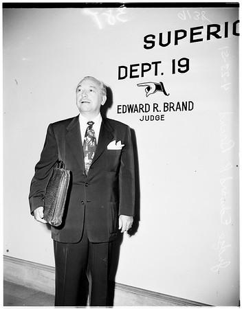 Judge resigning, 1951