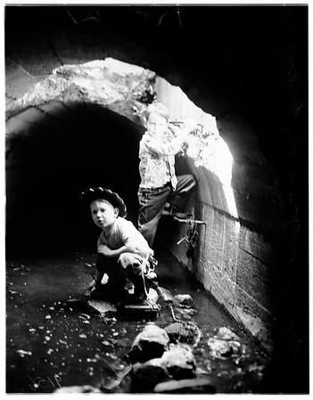 Storm drain menace (Pasadena -- San Marino), 1951