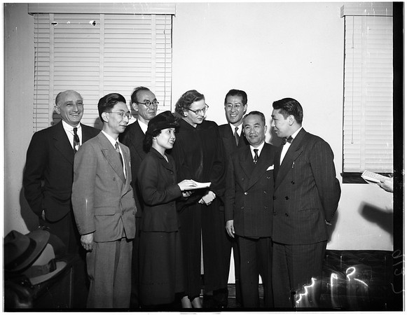 Five Judges of Japan's Supreme Court Secretarist, 1951