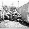 Truck overturned on car (Silverlake and London Streets),1951