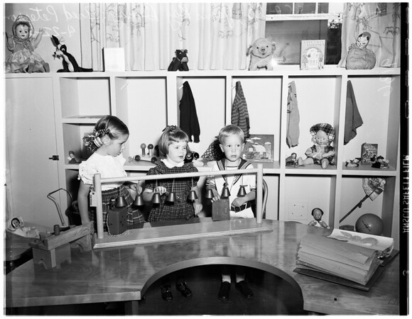 Nursery school for visually handicapped, 1951