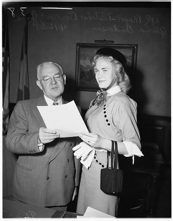Girls week proclamation, 1951