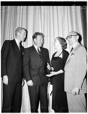 Margaret Truman debut as radio actress, 1951.