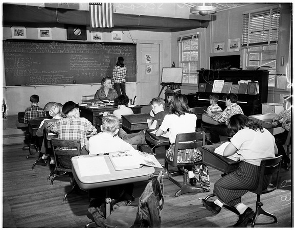 One room school house Decker School teachers 25th anniversary, 1951