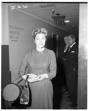 Sarah Churchill after her television performance, 1958