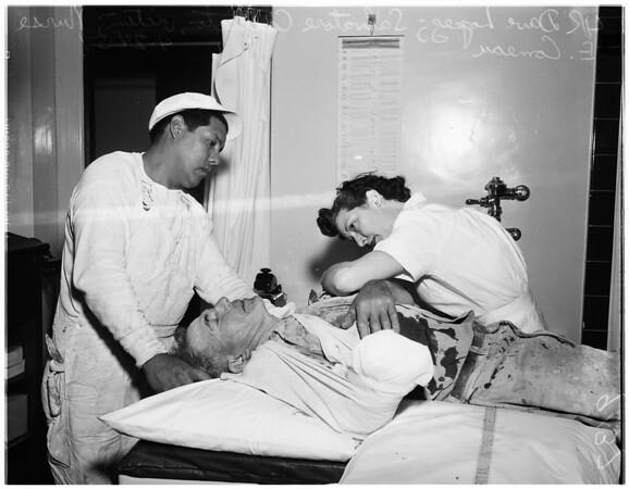 Emergency amputation, 1951