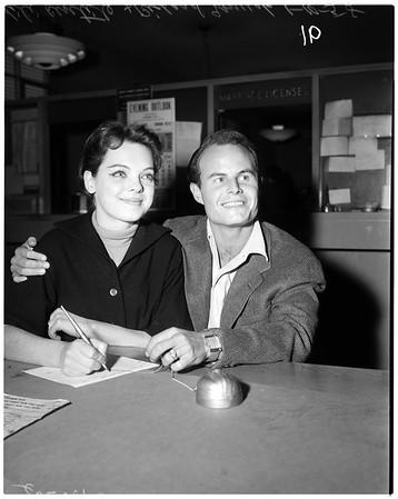 Lili Gentle marriage license, 1958