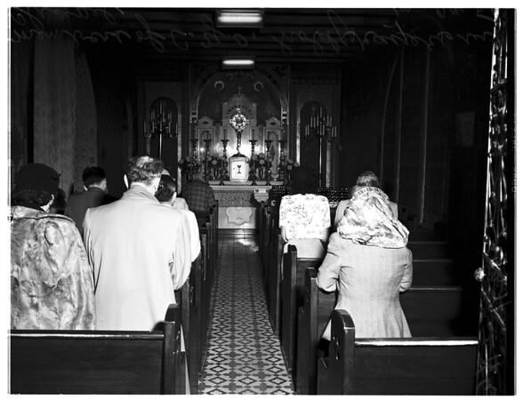 Catholic Youth Organization vigil at Old Mission Plaza Church, 1951