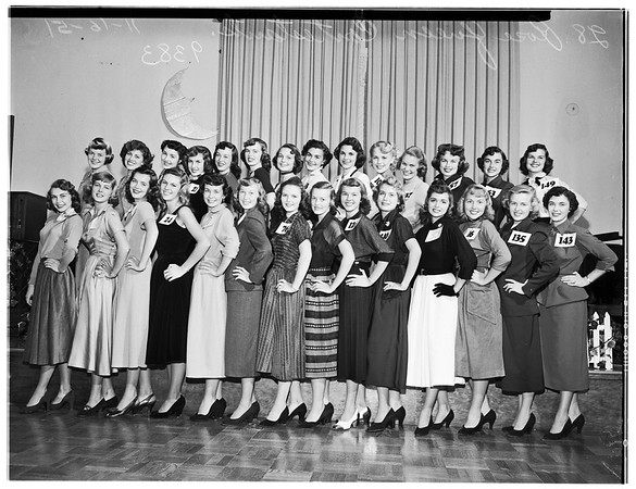 Pasadena Tournament of Roses ...Rose Queen Contestants ...28 Girls, 1951