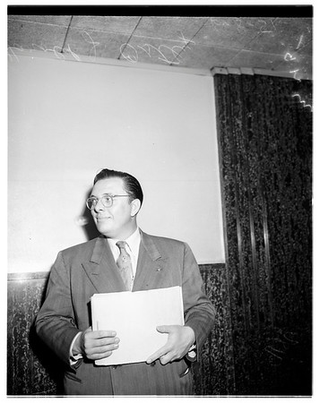 Cohen income tax hearing, 1951