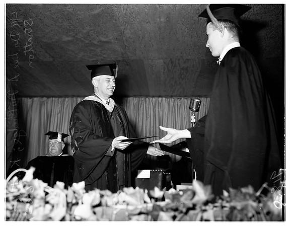 Caltech graduation, 1951