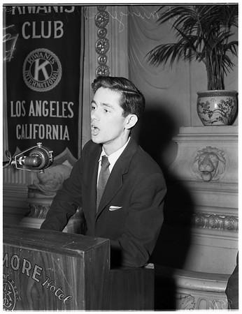 Interview... Biltmore [Hotel], 1952
