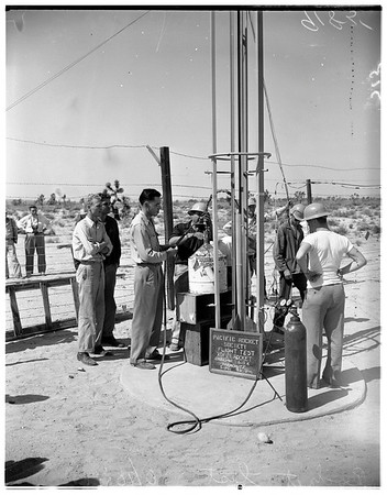 Rocket tests -- Mojave Desert, 1951