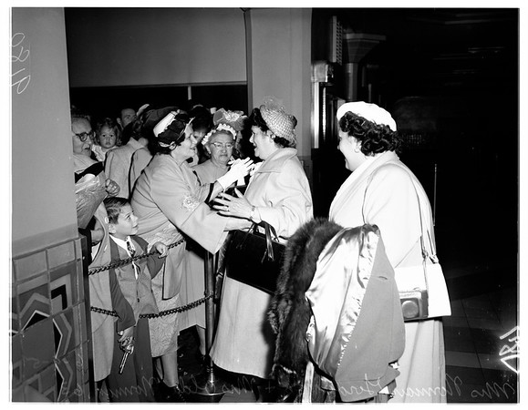Sisters reunion after 46 years -- union station, 1951