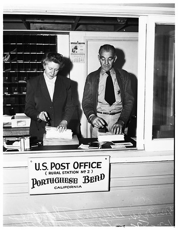 Portuguese Bend new post office, 1952