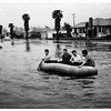 Kids in raft (Rodeo Road near Crenshaw Boulevard and La Brea Avenue), 1952