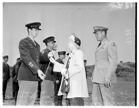 University of California Los Angeles Army cadet parade, 1951