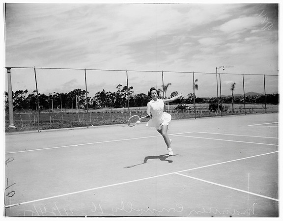 San Diego tennis star, 1951