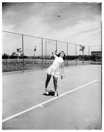 San Diego tennis star, 1951