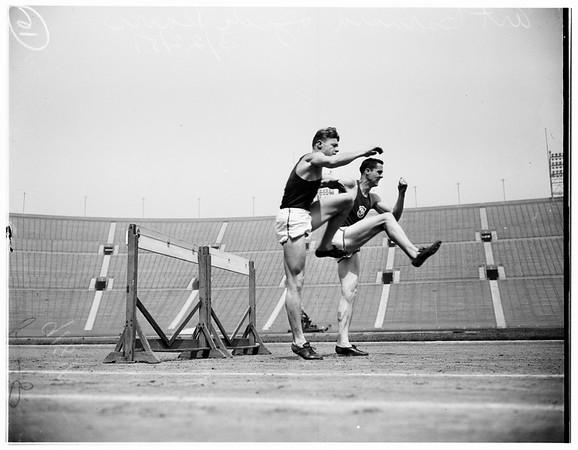 University of Southern California high hurdlers, 1951