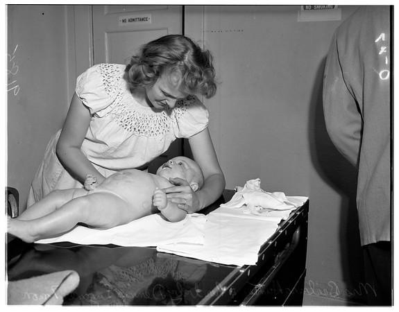 Baby beaten -- Lennox, 1951