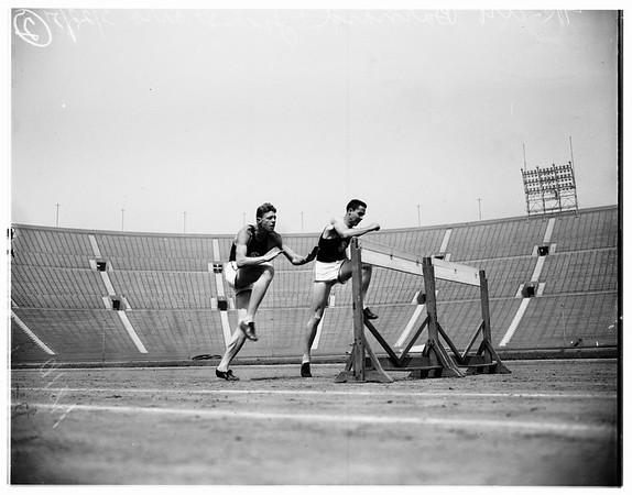 University of Southern California high hurdlers, 1951