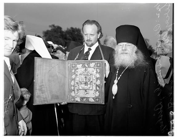 Russian prelate arrives, 1951