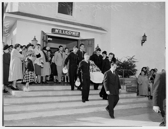 Funeral of Donna Isbell, 1952