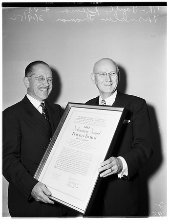 Construction award (Construction Industry Achievement Award), 1952