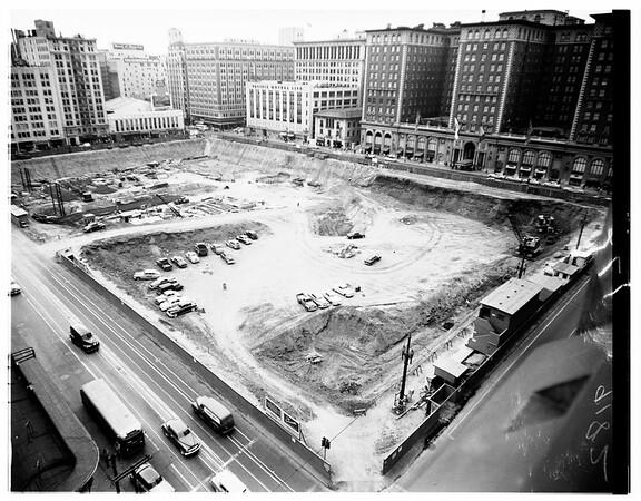 General views of Pershing Square, 1951