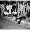 Auto accident -- Long Beach -- teen-agers hurt in crash (5th Street and Cedar Avenue), 1951
