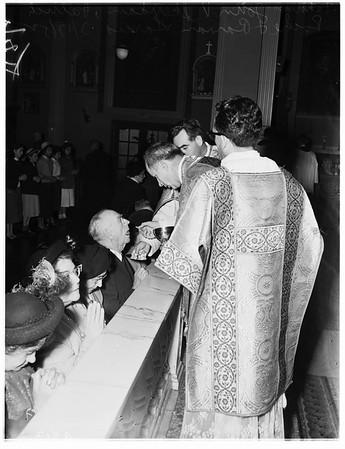 Saint Patrick's day at Saint Vibiana's Cathedral, 1952