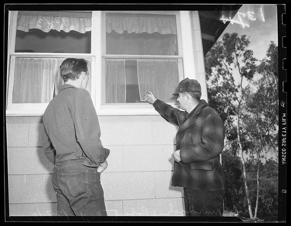 Phantom gunman's new victim ...1521 North Delta Street, Potrero Heights, 1951