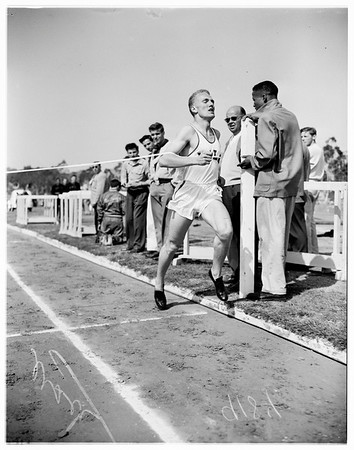 University of California Los Angeles track meet with Santa Barbara and Cal Poly, 1951