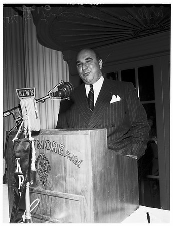 Town Hall speaker, 1952