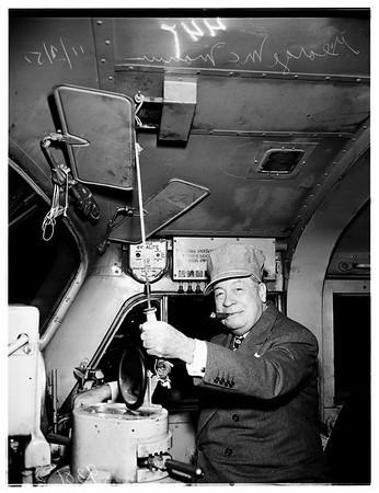 George McManus Leaving for New York, 1951