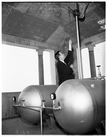 Air horns for civil defense, 1951