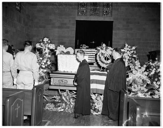 Soldier funeral (Private First Class Howard H. Gutzmann), 1951