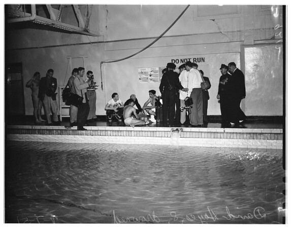 Boy drowns at YMCA, 1951